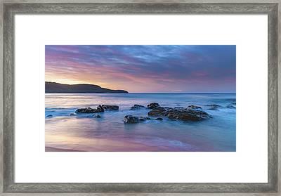 Luminescent Sunrise Seascape Framed Print