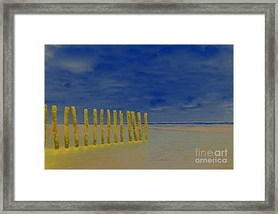 Luminous Beach Blue Sky Framed Print