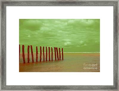Luminous Beach Green Framed Print by  Fotoping