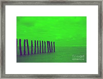 Luminous Beach Greenish Framed Print by  Fotoping