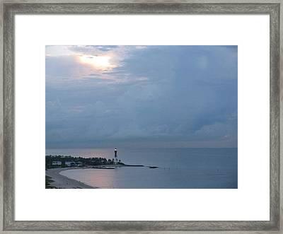 Luminous Lighthouse Framed Print