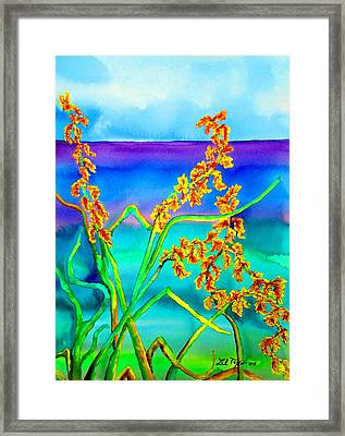 Framed Print featuring the painting Luminous Oats by Lil Taylor