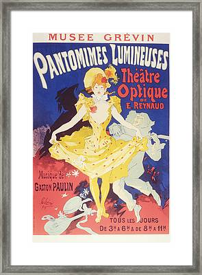 Luminous Pantomimes, The Optical Theater Of E. Rey Framed Print by BONB Creative