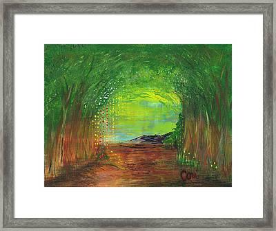 Luminous Path Framed Print