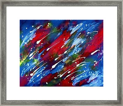 Luminous Rain Framed Print