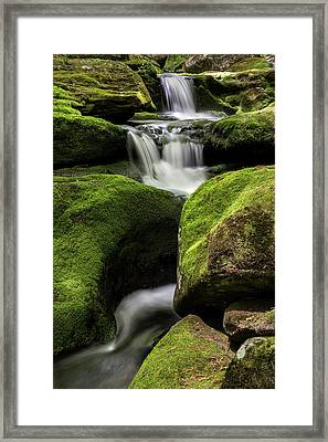 Luminous Triple Falls - Tunxis State Forest   Framed Print