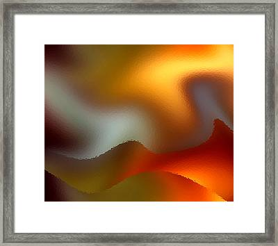 Luminous Waves Framed Print by Ruth Palmer