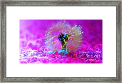 Luminous Wish Framed Print