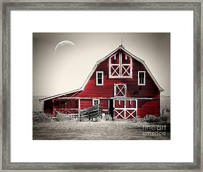 Luna Barn Framed Print