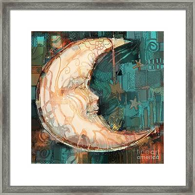 Framed Print featuring the painting Luna by Carrie Joy Byrnes