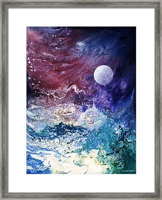 Luna Chrysalis Framed Print by Lee Pantas