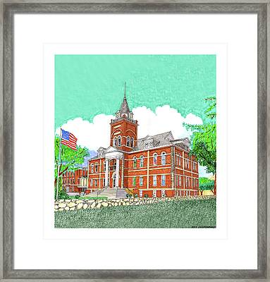 Luna County Court House  Deming  N M   Framed Print
