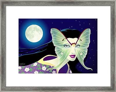Luna Framed Print by Cristina McAllister