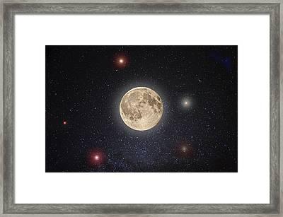 Luna Lux Framed Print