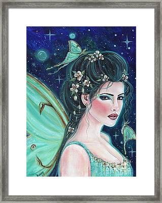 Luna Moth Fairy Framed Print