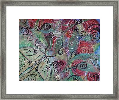 Luna On Me Framed Print by Adrianna Stepiano