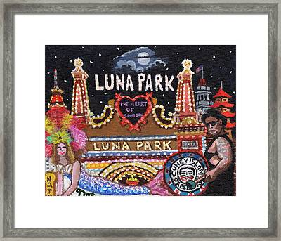 Luna Park Framed Print by Bonnie Siracusa