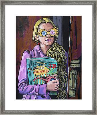 Framed Print featuring the painting Luna by Sarah Crumpler