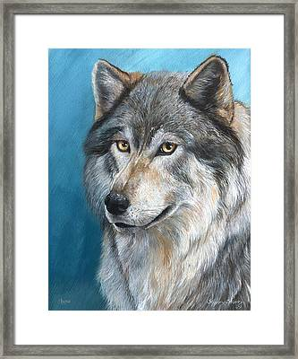 Framed Print featuring the painting Luna by Sherry Shipley