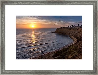 Lunada Bay Sunset Framed Print