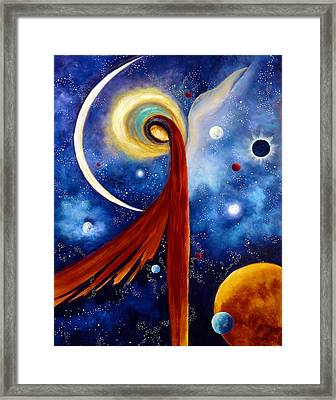 Framed Print featuring the painting Lunar Angel by Marina Petro