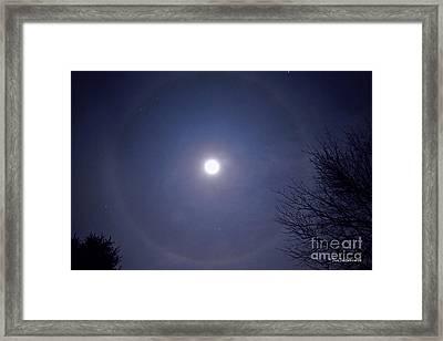Lunar Corona Framed Print