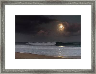 Lunar Crest Framed Print by Sean Davey