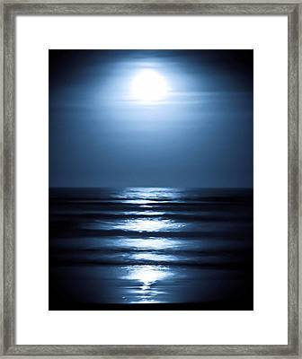 Lunar Dreams Framed Print by DigiArt Diaries by Vicky B Fuller