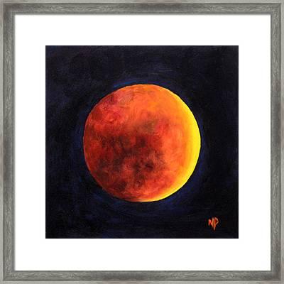 Lunar Eclipse Framed Print by Marina Petro