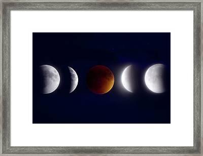 Lunar Eclipse Montage Framed Print