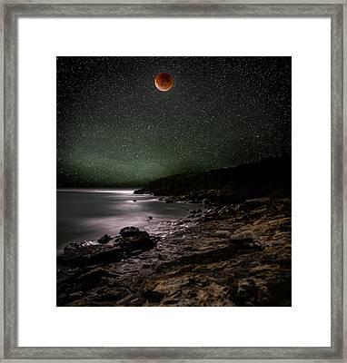 Lunar Eclipse Over Great Head Framed Print