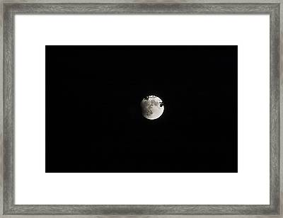Lunar Eclipse Starting Framed Print by Mark Russell