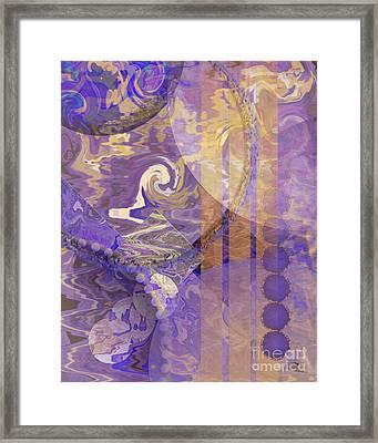 Lunar Impressions Framed Print by John Beck