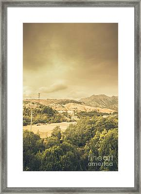 Lunar Landscape Of Queenstown Framed Print by Jorgo Photography - Wall Art Gallery