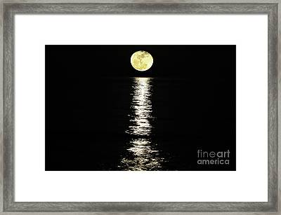 Lunar Lane Framed Print