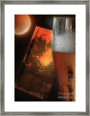 Lunar Moon Fizz Frame 2 Framed Print by Vicki Ferrari