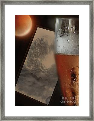 Lunar Moon Fizz Frame 3 Framed Print by Vicki Ferrari