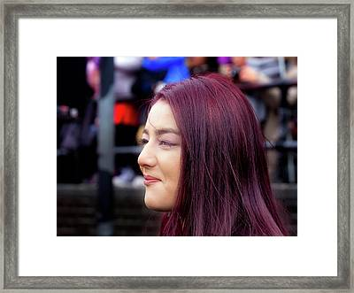 Lunar New Year Nyc 2017 Woman With Dyed Hair Framed Print