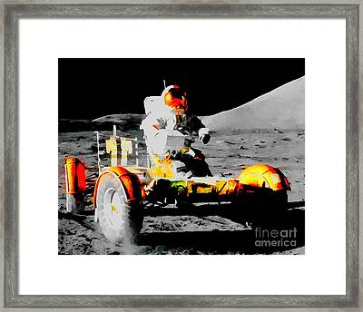 Lunar Roving Vehicle Framed Print