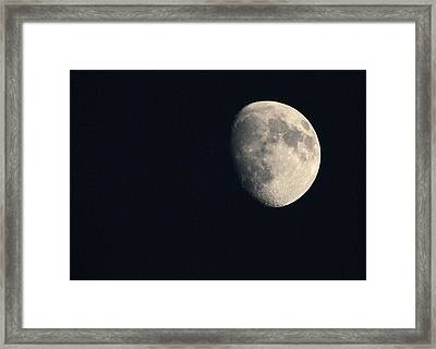 Lunar Surface Framed Print by Angela Rath