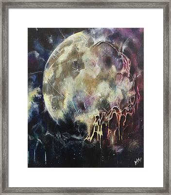 Lunar Transformation Framed Print by Amy Williams