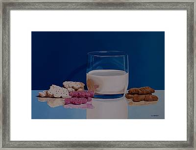 Lunch At The Zoo Framed Print by Tom Swearingen