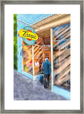 Lunch At Troy's Snack Shack Framed Print