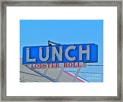 Lunch Framed Print by Beth Saffer