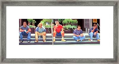 Lunch Break - Men At Work Series Framed Print by Merle Keller
