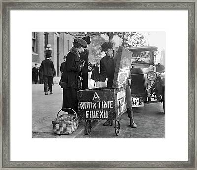 Lunch Cart In Washington D C Framed Print