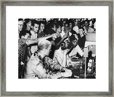 Lunch Counter Sit-in, 1963 Framed Print