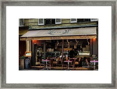 Lunch In Paris Framed Print