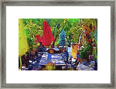 Lunch In Wine Country Framed Print