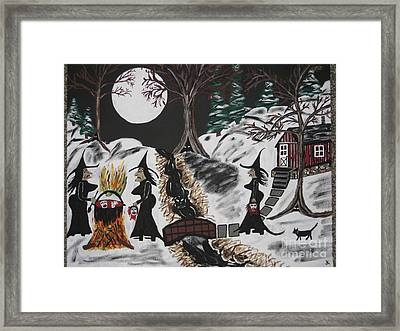 Framed Print featuring the painting Lunch by Jeffrey Koss
